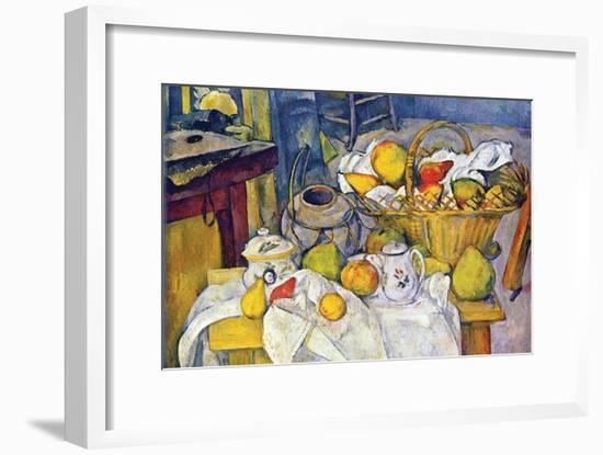 Still Life with Fruit Basket-Paul Cézanne-Framed Art Print