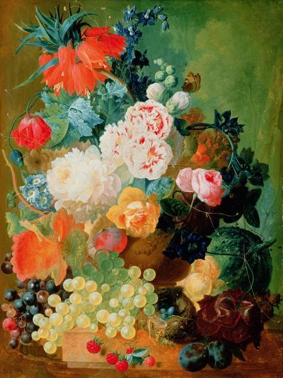 Still Life with Fruit, Flowers and Bird's Nest-Jan van Os-Giclee Print