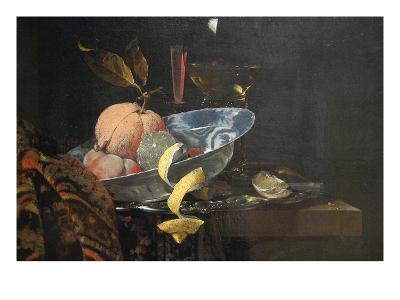 Still Life with Fruit, Glassware, and a Wan-Li Bowl, 1659-Willem Kaif-Art Print