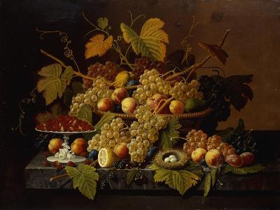 Still Life with Fruit-Severin Roesen-Giclee Print