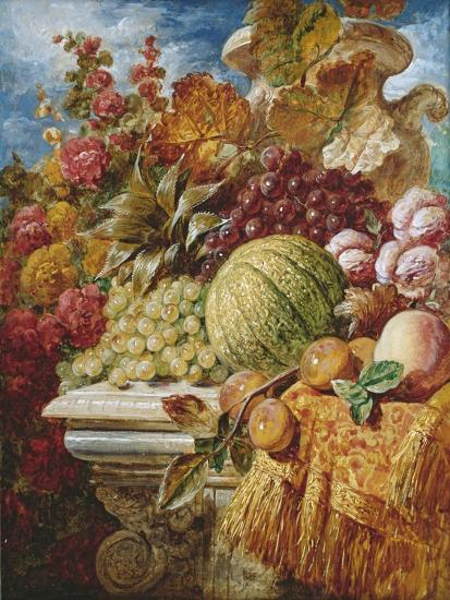 Still Life with Fruit-George Lance-Giclee Print
