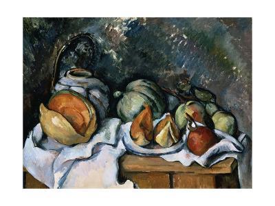 Still Life with Fruits and a Ginger Pot; Nature Morte Aux Fruits a Pot De Gingembre, C.1895-Paul Cezanne-Giclee Print