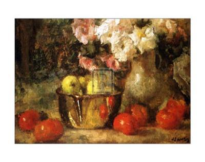 Still Life with Fruits and Flowers-Jean Laudry-Art Print