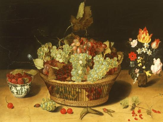 Still Life with Fruits and Flowers--Giclee Print