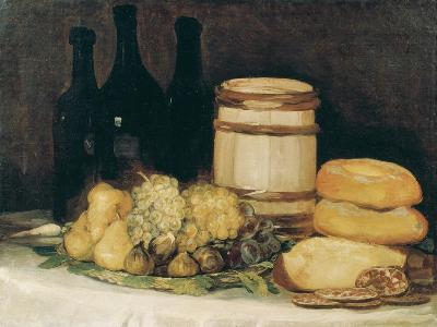 Still-Life with Fruits, Bottles and Loaves of Bread-Suzanne Valadon-Giclee Print