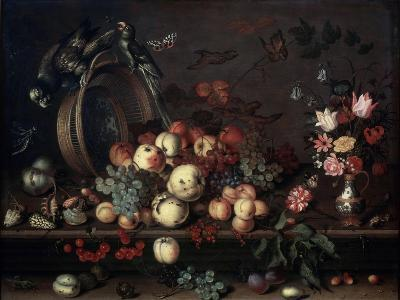 Still Life with Fruits, Flowers and Parrots, 1620S-Balthasar van der Ast-Giclee Print