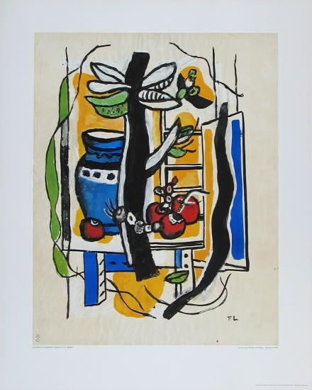 Still Life with Fruits-Fernand Leger-Collectable Print