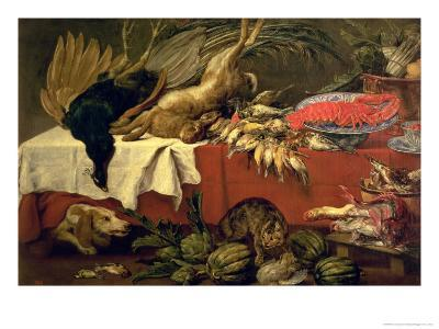 Still Life with Game and Lobster, c.1610-Frans Snyders Or Snijders-Giclee Print