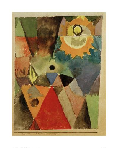 Still Life with Gas Lamp-Paul Klee-Giclee Print