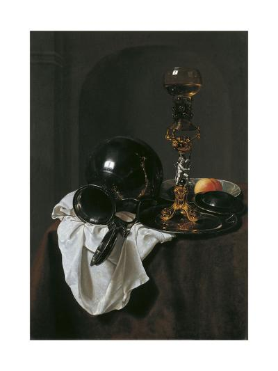 Still Life with Glass of Wine and Pewter Jug-Jan Jansz Treck-Giclee Print