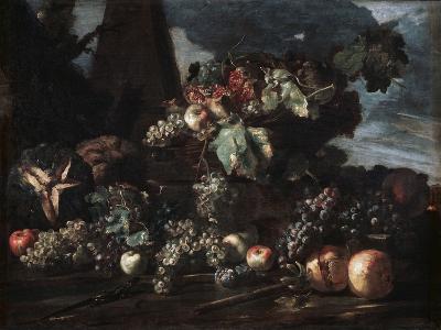 Still Life with Grapes, 17th Century-Michelangelo Pace del Campidoglio-Giclee Print