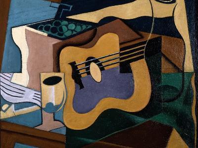 Still Life with Guitar, October-November 1920-Juan Gris-Giclee Print