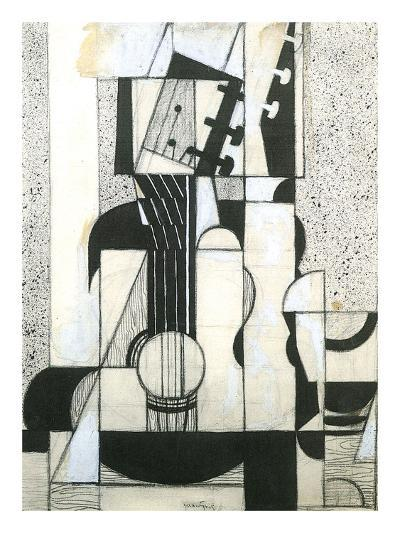 Still Life with Guitar-Juan Gris-Art Print