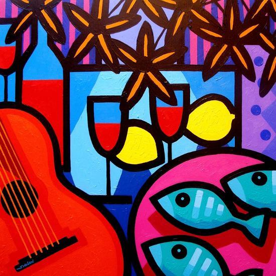 Still Life with Guitar-John Nolan-Premium Giclee Print