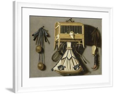 Still Life with Hunting Tackle-Johannes Leemans-Framed Art Print
