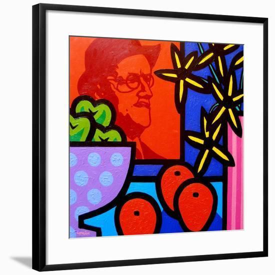 Still Life with James Joyce-John Nolan-Framed Giclee Print