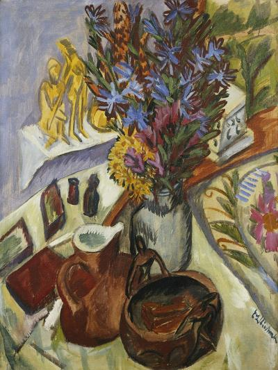 Still Life with Jug and African Bowl-Ernst Ludwig Kirchner-Giclee Print