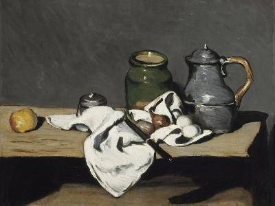 Still Life with Kettle, 1867-1869-Paul C?zanne-Giclee Print