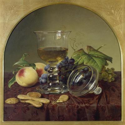 Still Life with Lidded Goblet, Fruit and Biscuit, 1836-Johann Wilhelm Preyer-Giclee Print