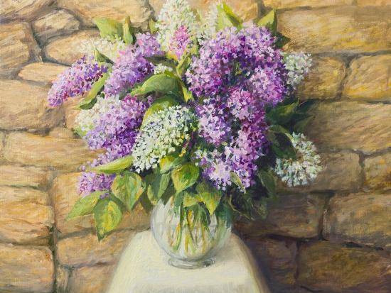 Still Life With Lilacs-kirilstanchev-Art Print
