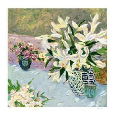 Still Life with Lilies II-Ellen Gunn-Collectable Print