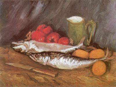 Still Life with Mackerel, 1886-Vincent van Gogh-Giclee Print