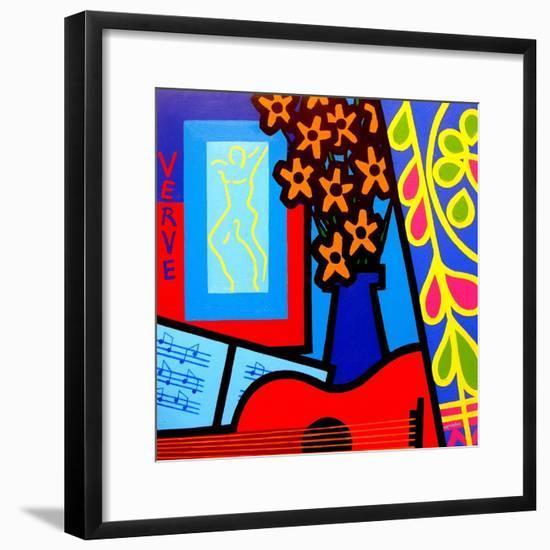 Still Life with Matisses Verve-John Nolan-Framed Giclee Print