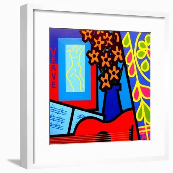 Still Life with Matisses Verve-John Nolan-Framed Giclee Print