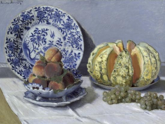 Still Life with Melon-Claude Monet-Giclee Print