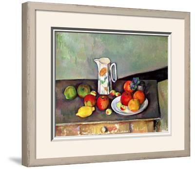 Still Life with Milkjug and Fruit, circa 1886-90-Paul C?zanne-Framed Giclee Print