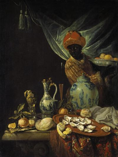 Still-Life with Moor and China. Probably About 1680-Jurian van Streek-Giclee Print