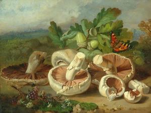 Still Life With Mushrooms Etc., 1859