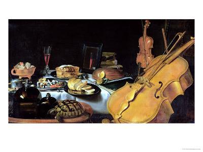 Still Life with Musical Instruments, 1623-Pieter Claesz-Giclee Print