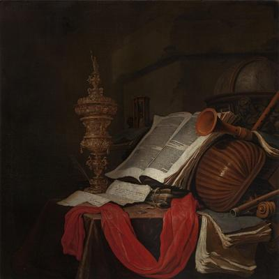 Still Life with Musical Instruments and Books-Jan Vermeulen-Giclee Print