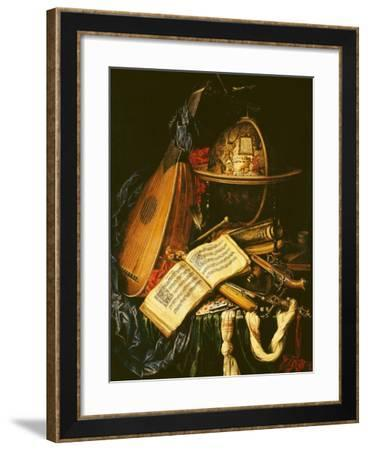 Still Life with Musical Instruments--Framed Giclee Print
