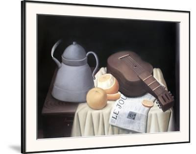 Still Life with Newspaper-Fernando Botero-Framed Art Print