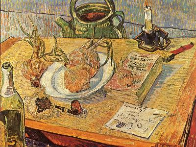 Still Life with Onions and Drawing Table, 1889-Vincent van Gogh-Giclee Print