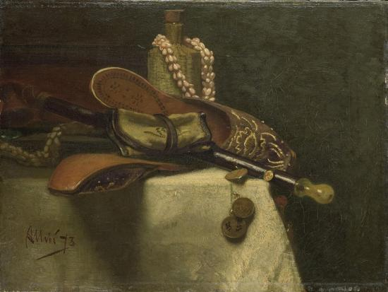 Still Life with Oriental Slippers-August Allebe-Art Print