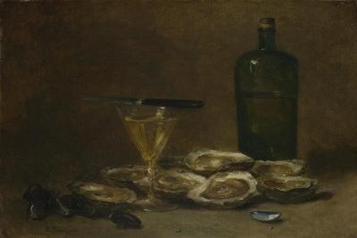 Still Life with Oysters, 1875-1877-Philippe Rousseau-Giclee Print