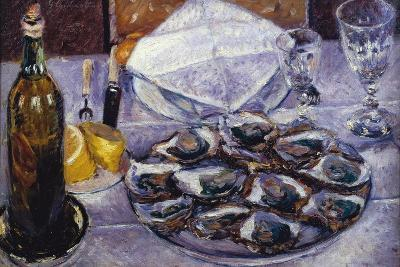 Still Life with Oysters, 1881-Gustave Caillebotte-Giclee Print