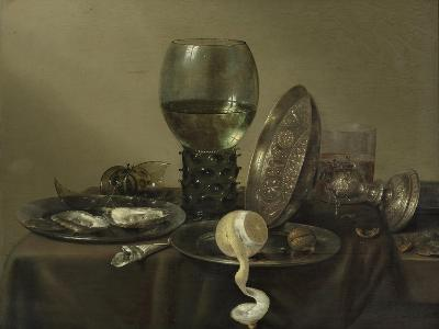 Still Life with Oysters, a Rummer, a Lemon and a Silver Bowl, 1634-Willem Claesz Heda-Giclee Print
