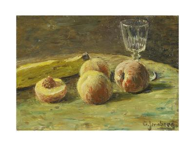 Still Life with Peaches and Wine Glass, Ca, 1890-Orneore Metelli-Giclee Print
