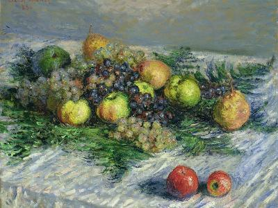 Still Life with Pears and Grapes, 1880-Claude Monet-Giclee Print