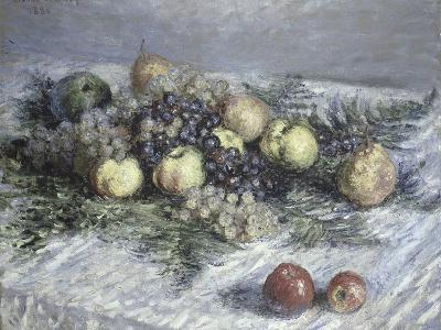 Still Life with Pears and Grapes-Claude Monet-Giclee Print