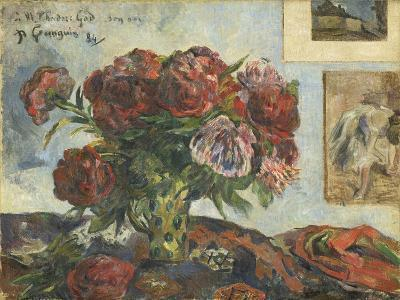 Still Life with Peonies, 1884-Paul Gauguin-Giclee Print