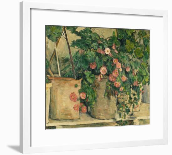 Still Life with Petunias, about 1885-Paul Cézanne-Framed Giclee Print