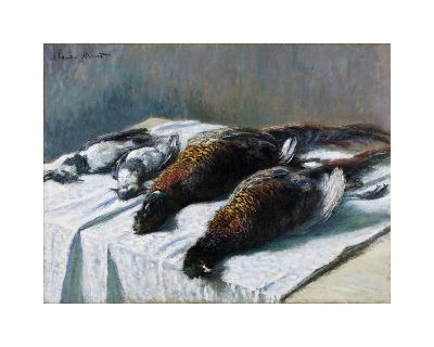 Still Life with Pheasants and Plovers, 1879-Claude Monet-Premium Giclee Print