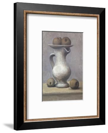 Still Life with Pitcher and Apple-Pablo Picasso-Framed Art Print