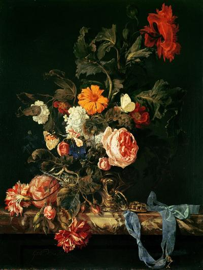 Still Life with Poppies and Roses-Willem Van Aelst-Giclee Print