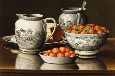 Still Life with Porcelain and Strawberries-Levi Wells Prentice-Giclee Print